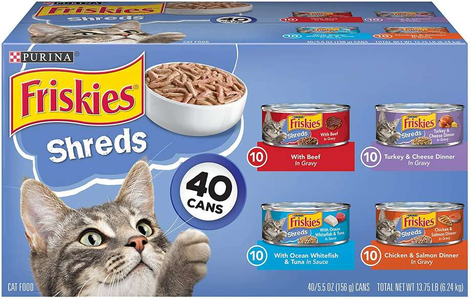 Purina Friskies Canned Wet Cat Food 40 ct. Variety Packs, $20.48 Photo: Amazon