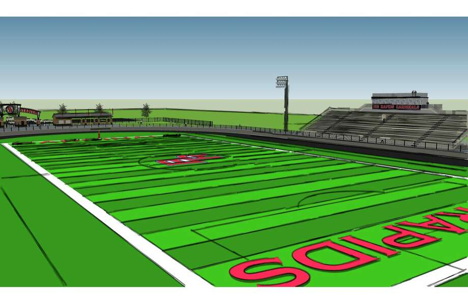 Pictured is the rendering for the multi-purpose field. A groundbreaking ceremony for the field was supposed to take place this spring. (Courtesy photo)