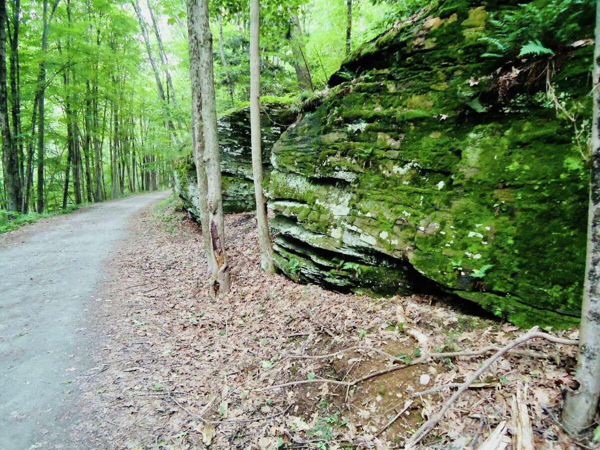 The Pequonnock Valley rails to trails remains open, but police have begun patrolling the walking paths reminding residents of the social distancing protocols in effect.