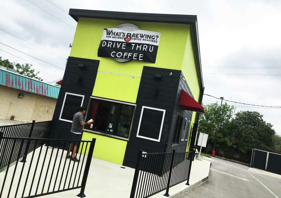 What's Brewing Coffee Roasters has a new drive-thru location at 12054 Blanco Road with a full coffee menu and select food items. Photo: Chuck Blount /Staff
