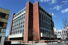 Exterior of the Fairfield County Courthouse, in Bridgeport.