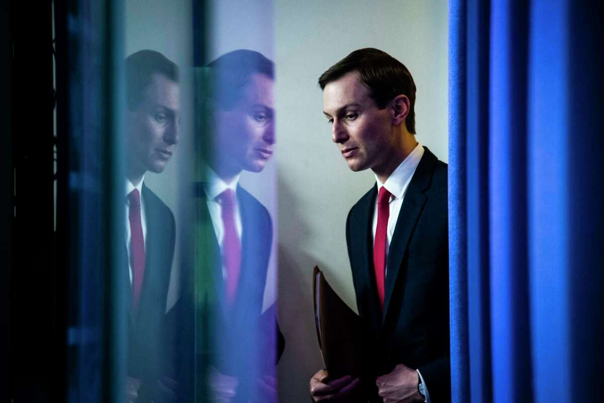 A top private-equity executive emailed President Trump's son-in-law Jared Kushner last month. Kushner is shown arriving to speak with members of the coronavirus task force at the White House on April 2, 2020 in Washington, DC.