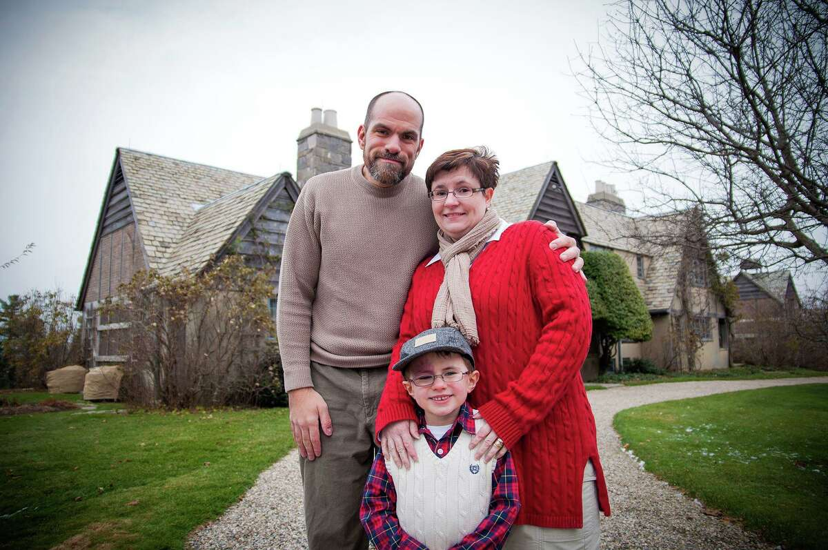 Carrie Borkowski, pictured with her husband Timothy and their son, Ethan. Carrie, a cancer survivor with a compromised immune system, has the coronavirus and is self-quarantined since April 1. She is on the mend, she said this week.