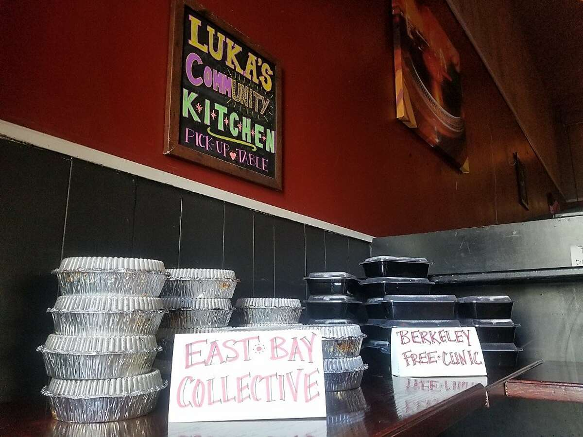Luka's Taproom bar and restaurant in Oakland has created a new Luka's Community Kitchen, raising donationas and working through non-profits including East Bay Collective and Berkeley Free Clinic to feed unsheltered residents in the East Bay. Luka's owner Rick Mitchell was able to hire three employees back after losing most of his business.