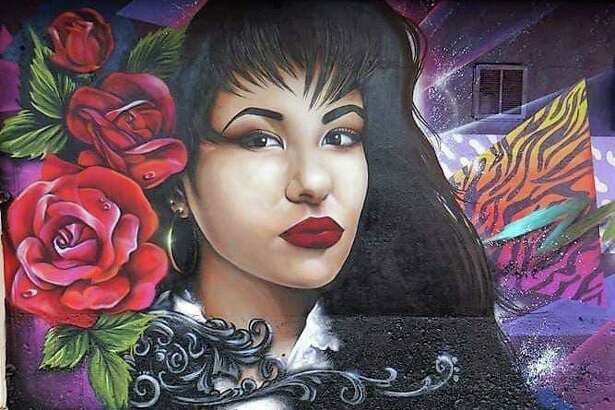 Selena mural at The Arena a vintage clothing store in Houston.