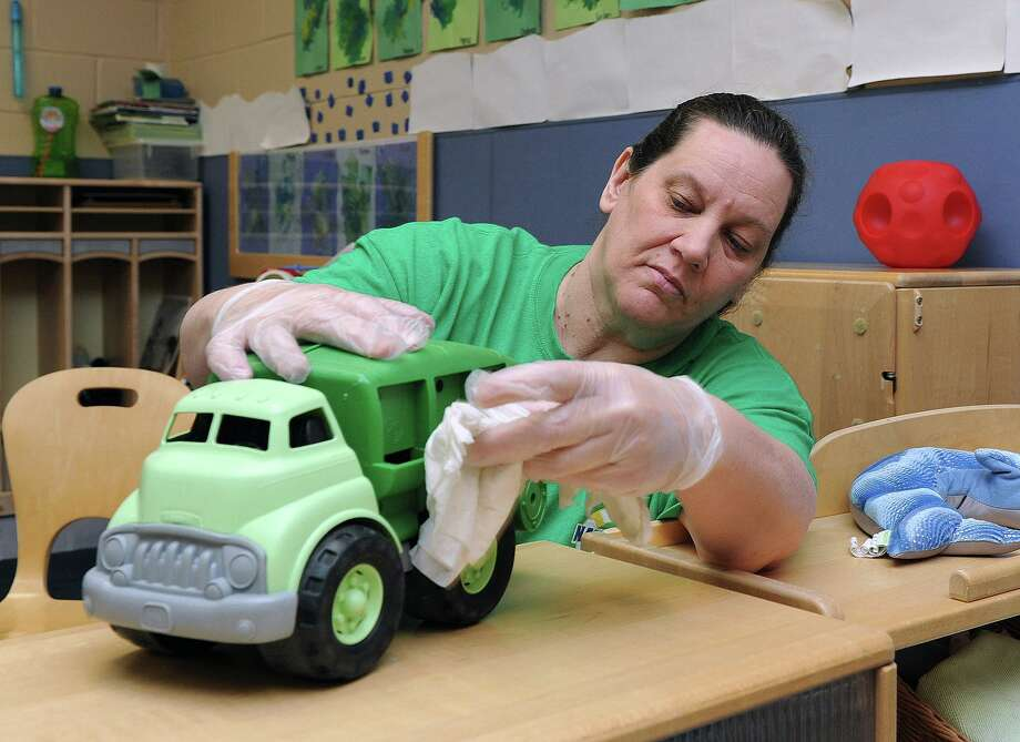 Keeping high-touch surfaces clean is essential to curbing the spread of COVID-19, including toys. Children can help by cleaning their own high-touch surfaces. Photo: Photo By MC2(SW) Tristan B. Lotz