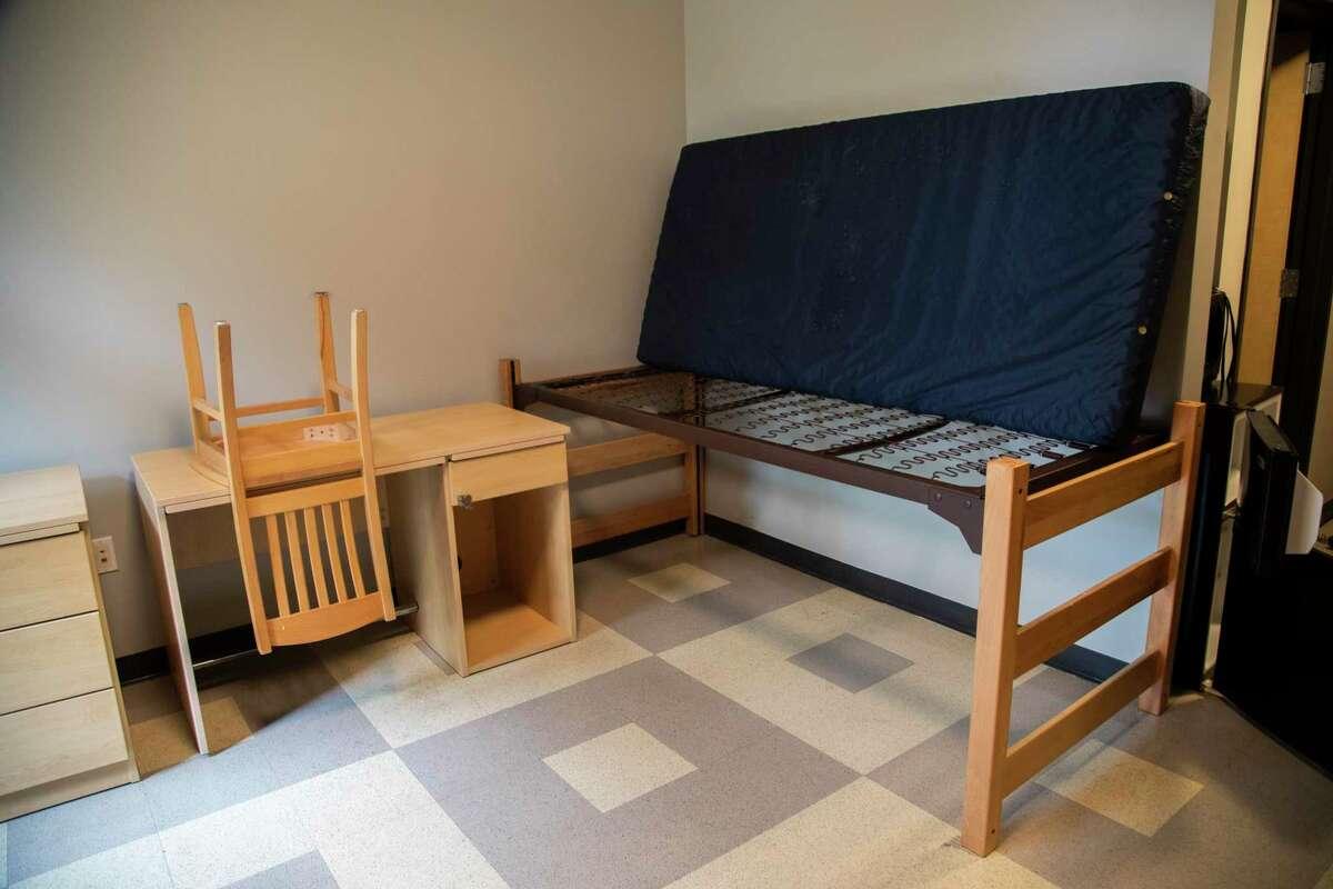 University of St. Thomas Guinan Residence Hall dorm on Monday, April 6, 2020, in Houston.