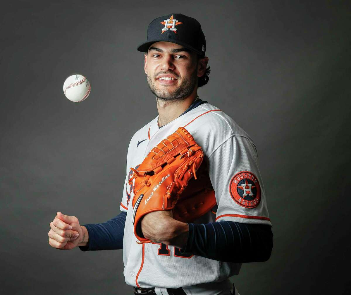 Houston Astros pitcher Lance McCullers Jr. (43) during the Houston Astros spring training workouts at the Fitteam Ballpark of The Palm Beaches, in West Palm Beach.