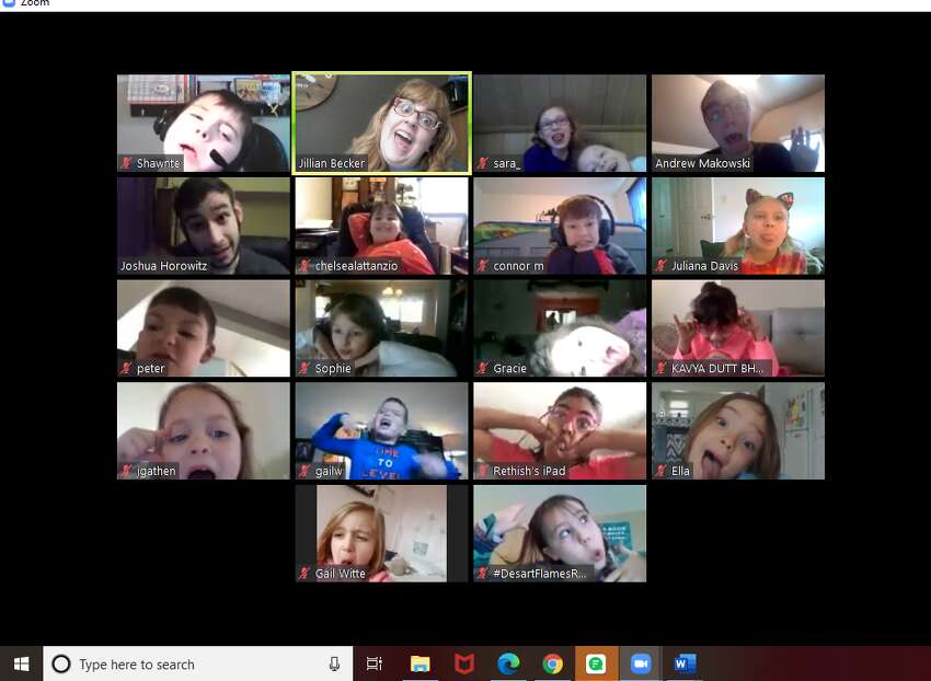 Albany chapter of Drama Kids International conducting classes via Zoom.