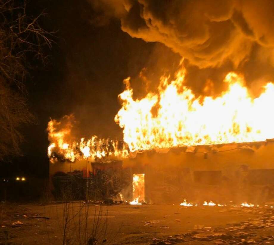 2-alarm fire torches abandoned building along Highway 99. Photo: South County Fire Photo