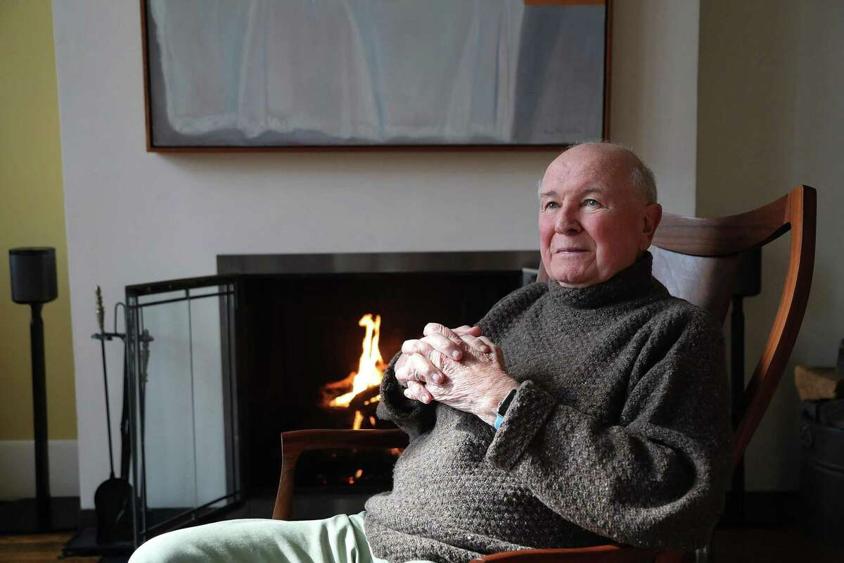 Playwright Terrence McNally appears in a portrait taken in his home on March 2, 2020 in New York City.