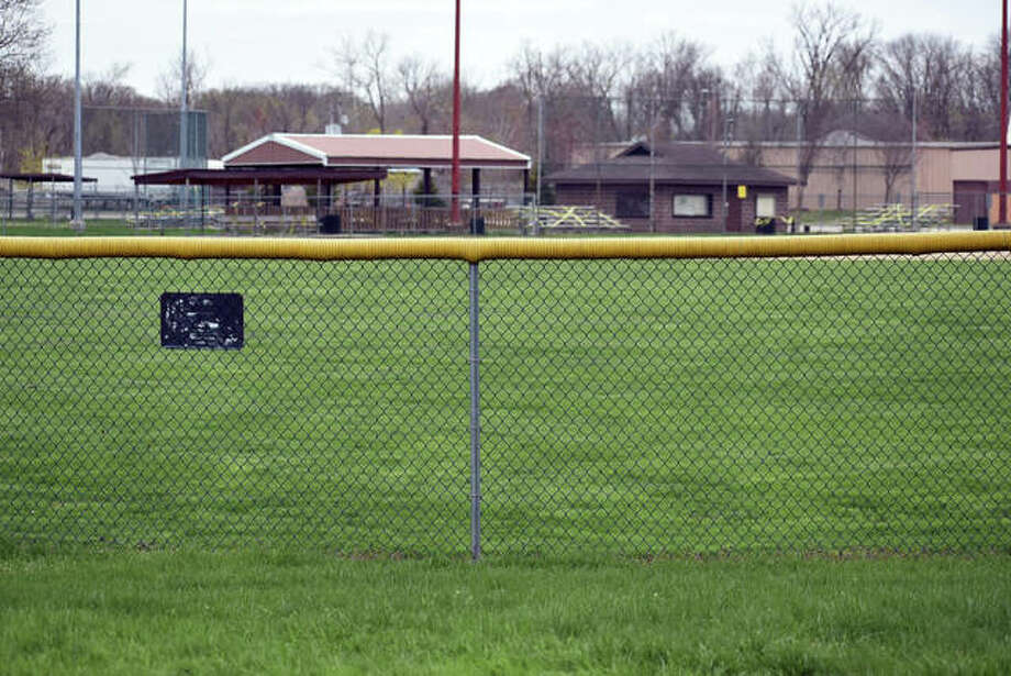Closed signs line the ballparks, basketball courts and golf courses around town during the stay-at-home order in the state. Photo: Matt Kamp|The Intelligencer