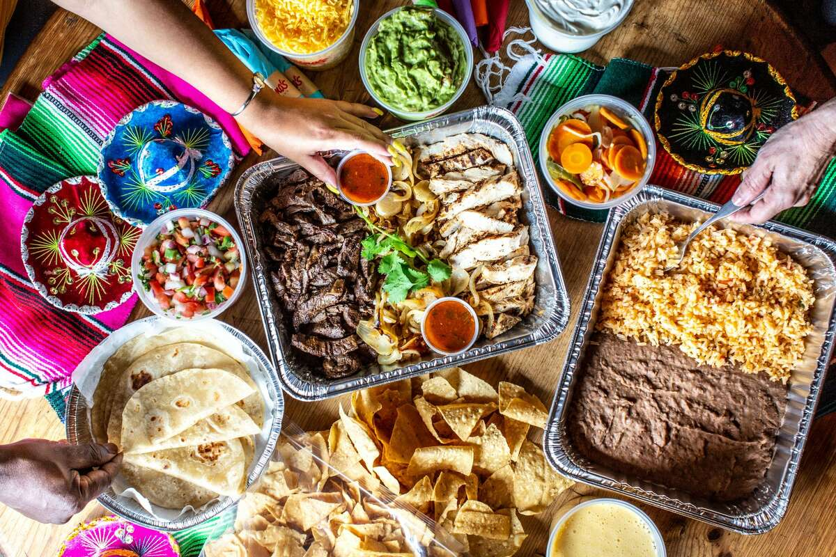 Molina's Cantina: Selections range from a taco pack (six for $32.95 or 12 for $64.95) to pork tamales (12 for $12.95) to a fajita pack (chicken and beef $18.95; chicken $17.95; beef $19.95) with charbroiled fajita strips, grilled onions and flour tortillas. Both come with Mexican rice, refried beans and chips and salsa. Multiple locations.