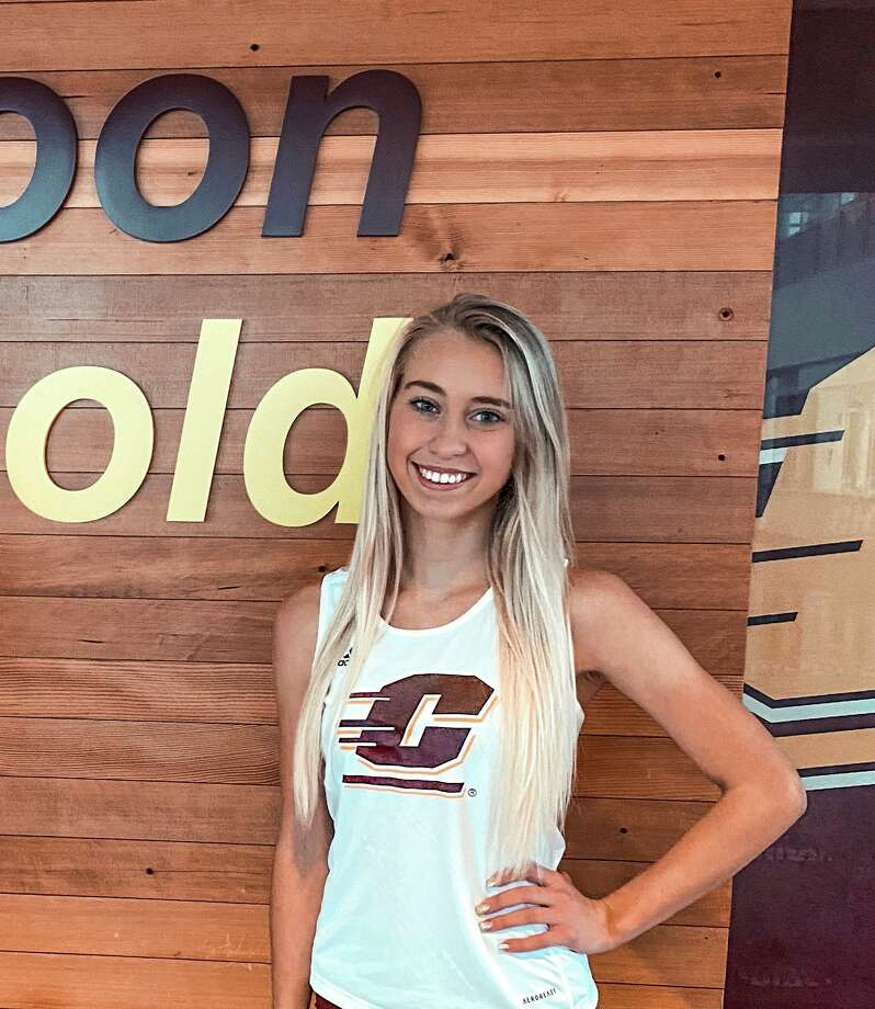 Chippewa Hills' Natalie Newcombe gets ready for a running career at Central Michigan University. (Courtesy photo)
