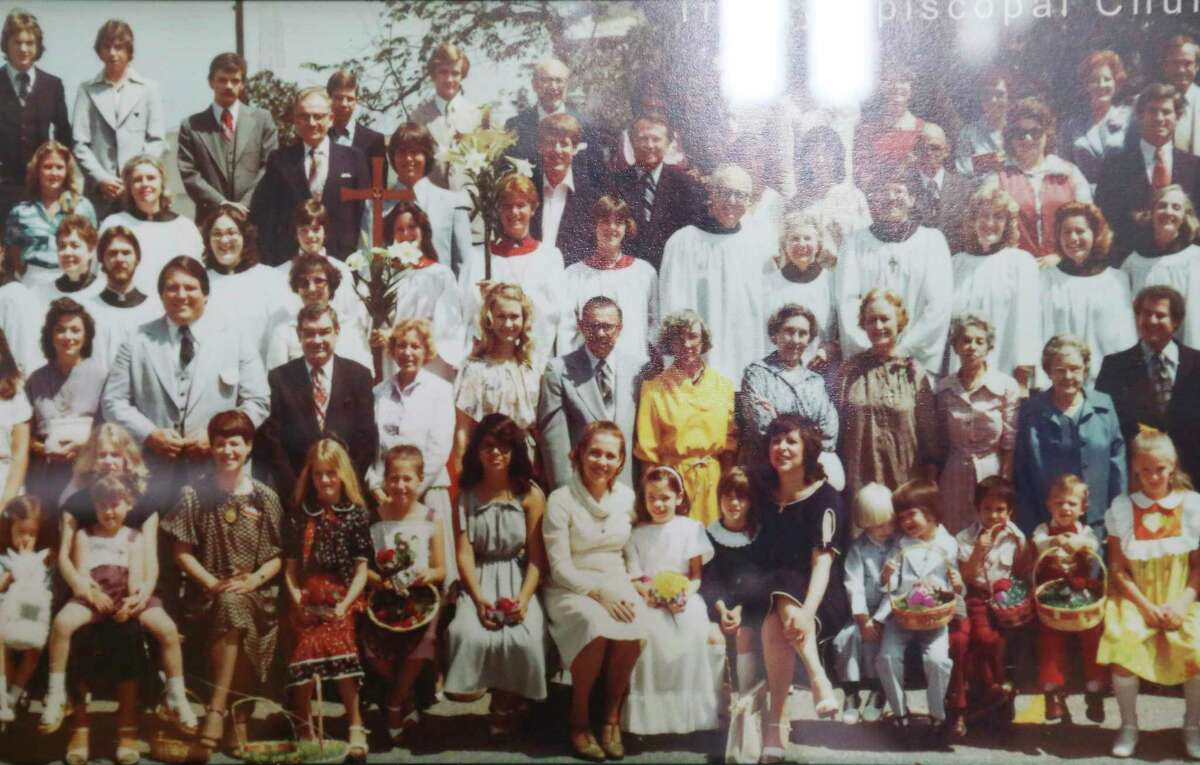 The annual Trinity Episcopal Church Easter Sunday panoramic photographs Monday, April 6, 2020, at in Houston. The oldest photograph was dated 1921. This tradition will be interrupted by the coronavirus outbreak.