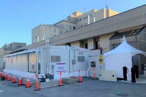 In preparation for a possible surge of coronavirus patients, Charlotte Hungerford Hospital has established a triage area outside the emergency room entrance on Litchfield Street. In addition, beds have been delivered to the now-closed East School, in case more space is needed for patients.