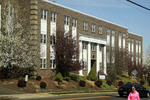 Golden Hill Rehab Pavilion nursing home where at least 44 people have tested positive for COVID-19 at 2028 Bridgeport Avenue in Milford, Conn. on Tuesday, April 7, 2020.