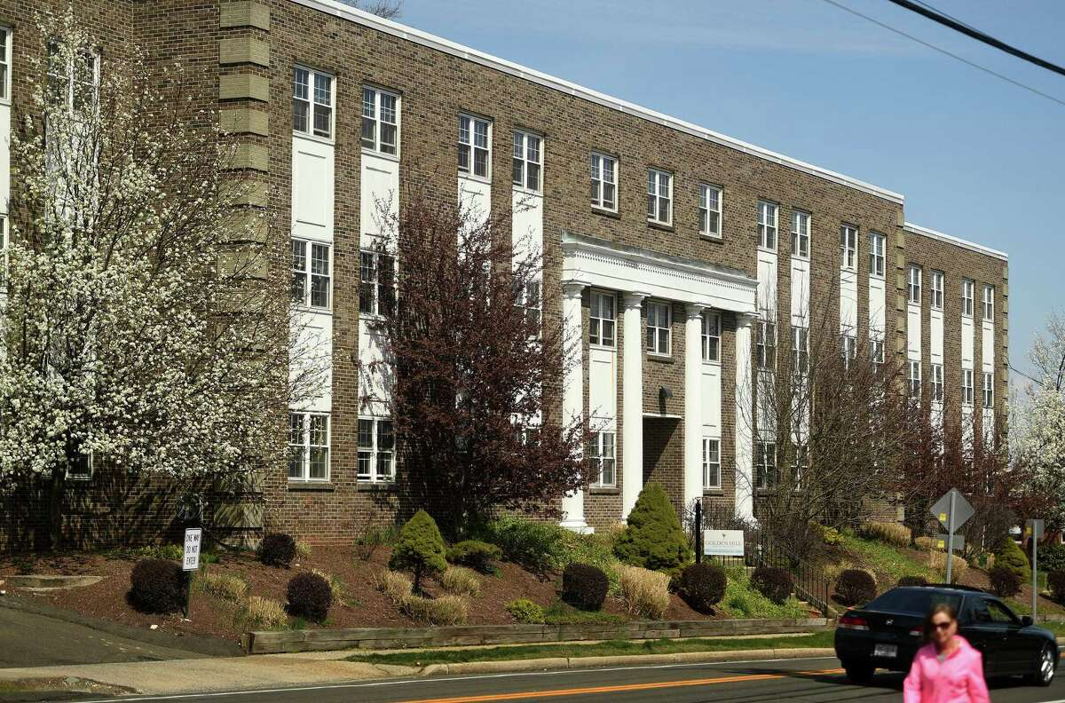 Golden Hill Rehab Pavilion nursing home where at least 67 people have tested positive for COVID-19 at 2028 Bridgeport Avenue in Milford, Conn. on Tuesday, April 7, 2020.