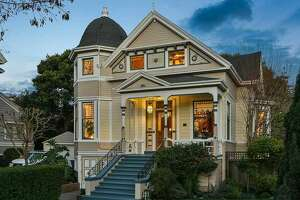 This 5-bedroom Queen Anne home in Alameda is listed as an Alameda Historic Resource and is currently for sale for $2.2 million.