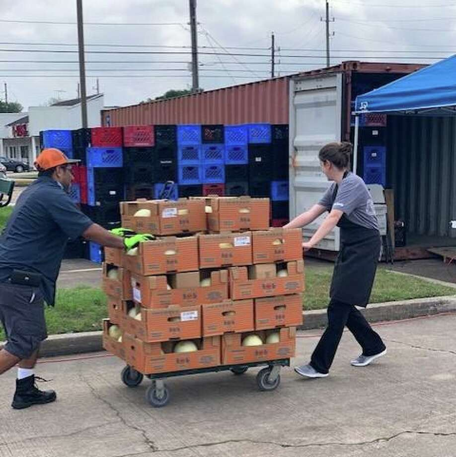 Pantry items are brought in to help Cypress Assistance Ministries meet the area's growing need for food assistance during the ongoing coronavirus pandemic. Photo: Courtesy OfCypress Assistance Ministries / Facebook