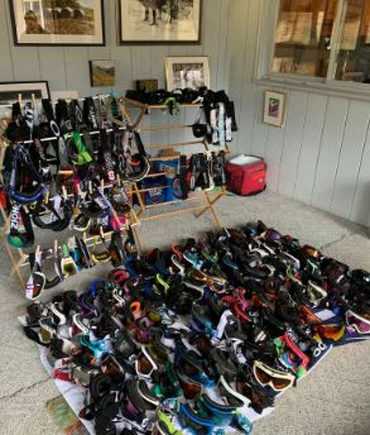 Scores of goggles have been donated at local ski centers like Windham.