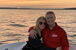 Drew Moulton and his wife Olivia spend some time together on the water.