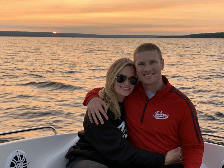 Drew Moulton and his wife Olivia spend some time together on the water. Photo: Photo Provided