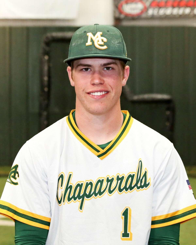 Midland College baseball player Caden Hensley