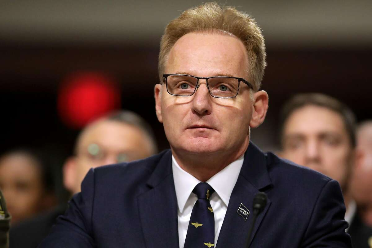 Acting Navy Secretary Thomas Modly testifies before the Senate Armed Services Committee in the Dirksen Senate Office Building on Capitol Hill December 03, 2019 in Washington, DC.