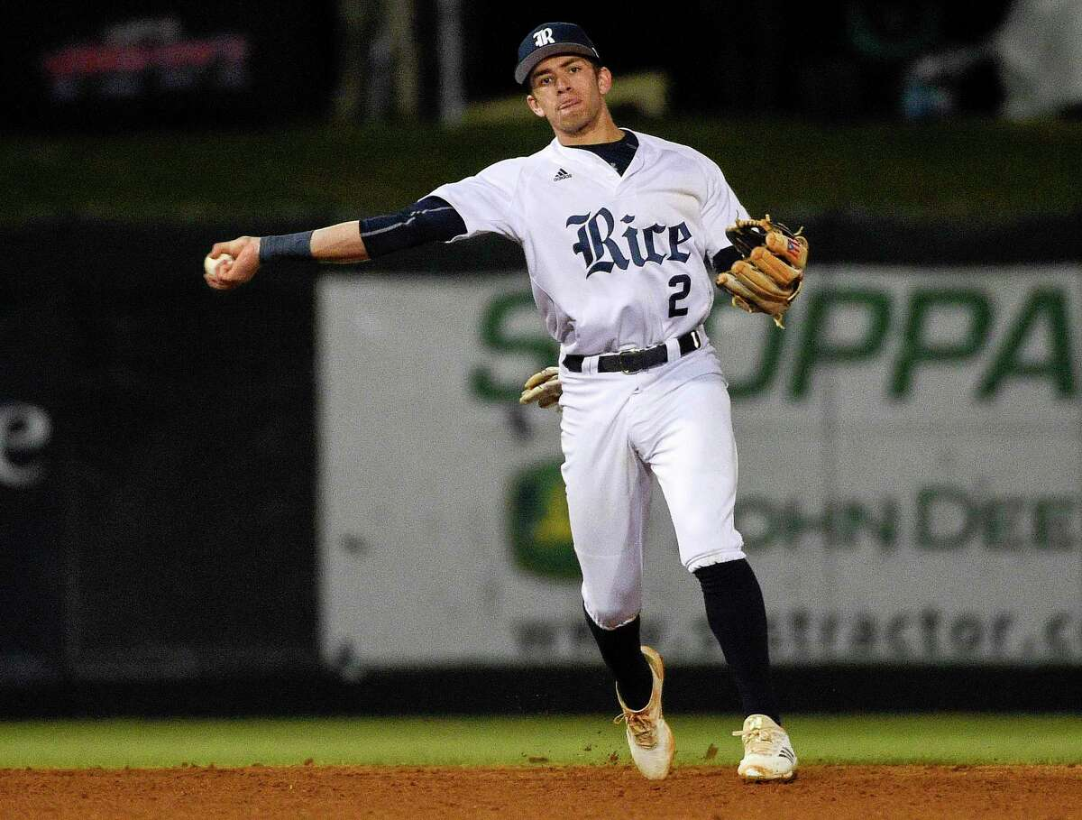 Trei Cruz played second base during his freshman year at Rice before transitioning back to shortstop. Third base may be a possibility for him in the professional ranks.