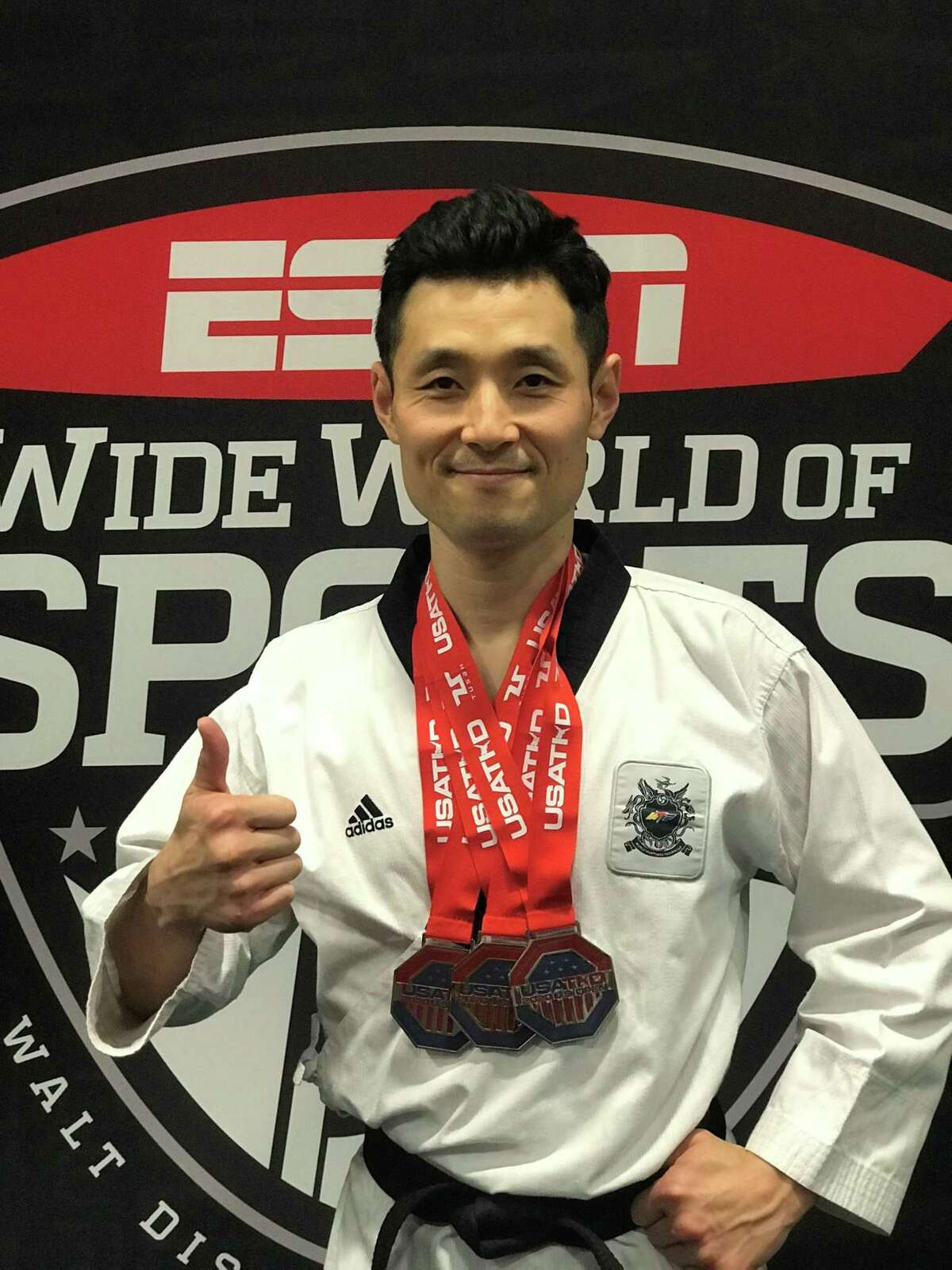 Master Seongho Hong of Master Hong's Olympic Taekwondo Academy in New Milford recently earned three medals at the recent U.S. Open Taekwondo Championships.