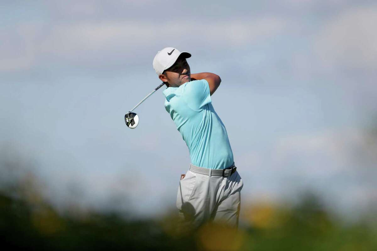 ST SIMONS ISLAND, GEORGIA - NOVEMBER 18: C.T. Pan of Taiwan plays his shot from the eighth tee during the third round of The RSM Classic at Sea Island Golf Club Seaside Course on November 18, 2017 in St Simons Island, Georgia. (Photo by Streeter Lecka/Getty Images) ORG XMIT: 775055555