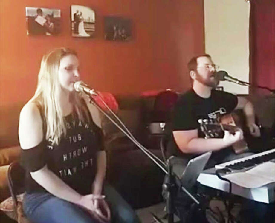Rachel Riddle and Nathan Sickmeier form the duo Come Closer, and presented a recent Facebook Live concert. Photo: For The Telegraph
