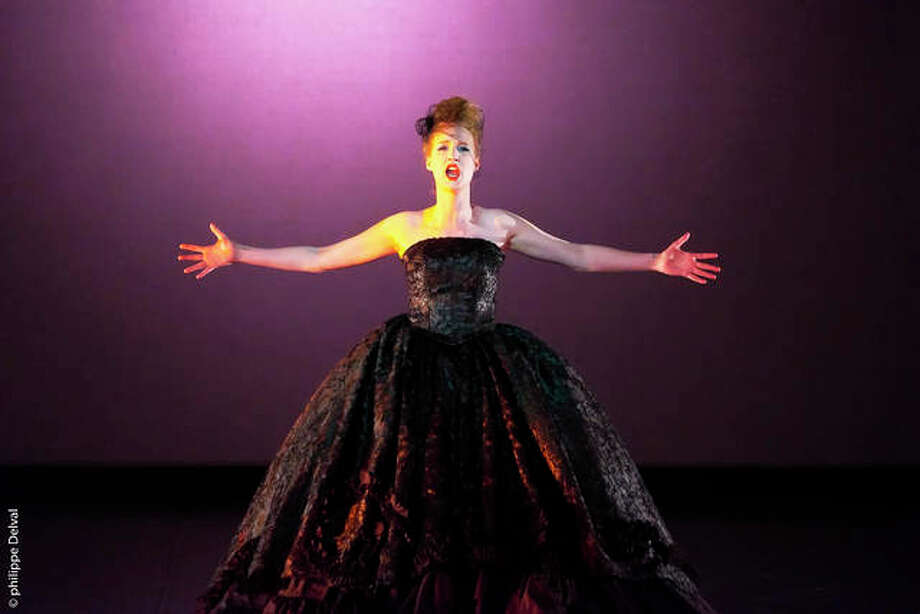 Belgian soprano Déborah Cachet in a performance with the Delaware Valley Dance Academy, a premier dance studio in Colmar, Pennsylvania. Delaware Valley Dance Academy students have been accepted and received scholarships to such prestigious summer programs as The School of American Ballet (SAB), The Pennsylvania Governor's School for the Arts, American Ballet Theater, Miami City Ballet, The Rock School, Princeton Ballet School, Boston Ballet and many others. Cachet will be a guest soloist at Opera Edwardsville's third annual Christmas at The Wildey, at 7:30 p.m. Friday, Dec. 11, at The Wildey Theatre, Edwardsville. Photo: For The Telegraph