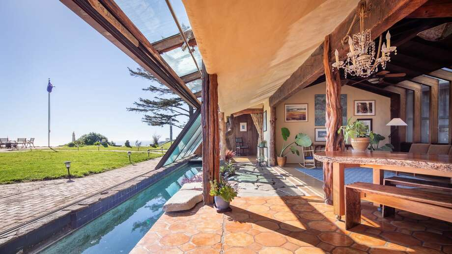 The beachfront property at 8 Ocean in Bolinas is a stunning mid-century home handcrafted by a collection of Sausalito boat builders and artisans in 1958. The unique home just hit the market for $4.75 million. Photo: Compass