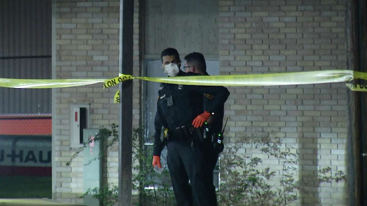 A man was hospitalized after a shootout occurred at a Northwest Side apartment complex, near the 3800 block of Parkdale Drive, on Wednesday.