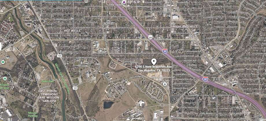 San Antonio Police are searching for a suspect after a 22-year-od was shot following a disturbance at a Southeast Side apartment complex, near the 6200 block of S. New Braunfels Avenue. Photo: Google Maps