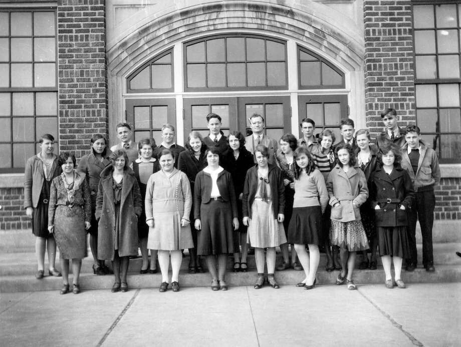 The Manistee High School Speech Class is shown in this 1930s photograph.