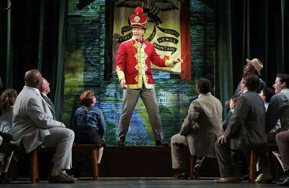 """Edward Watts as Harold Hill with the cast of Goodspeed Musicals' """"The Music Man"""" at Goodspeed. Photo: Diane Sobolewski / Contributed Photo"""