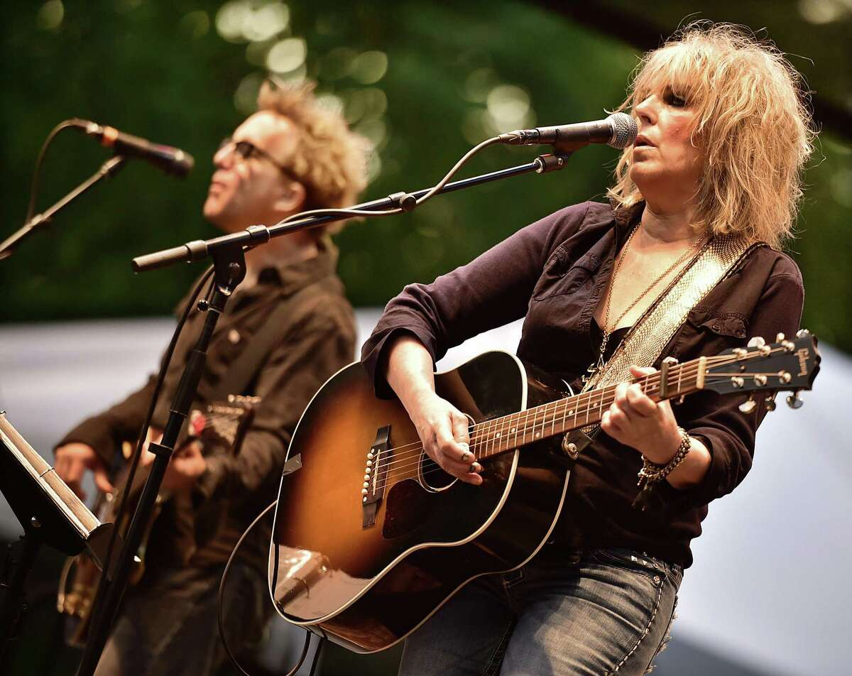 Grammy-winning Lucinda Williams performs in front of thousands of concert-goers at the International Festival of Arts & Ideas on the New Haven Green in 2015.