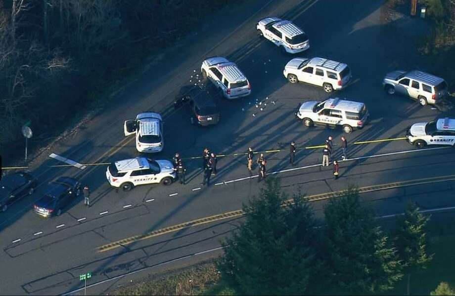 A child molestation suspect was killed in an officer-involved shooting Tuesday evening after he fired at Pierce County deputies making a traffic stop. Photo: Courtesy Of KOMO News