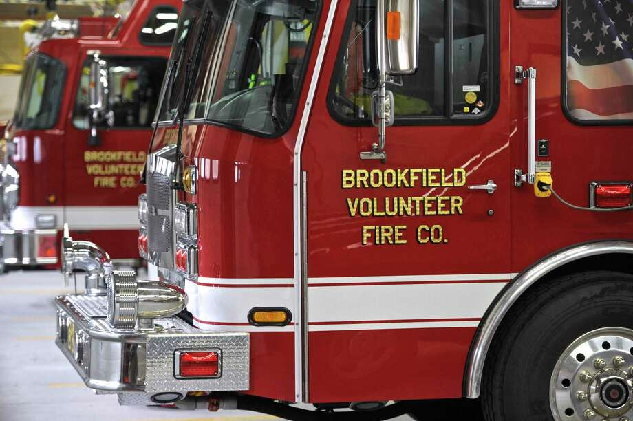 File photo of some of Brookfield Volunteer Fire Company's trucks. Photo: H John Voorhees III / Hearst Connecticut Media / The News-Times
