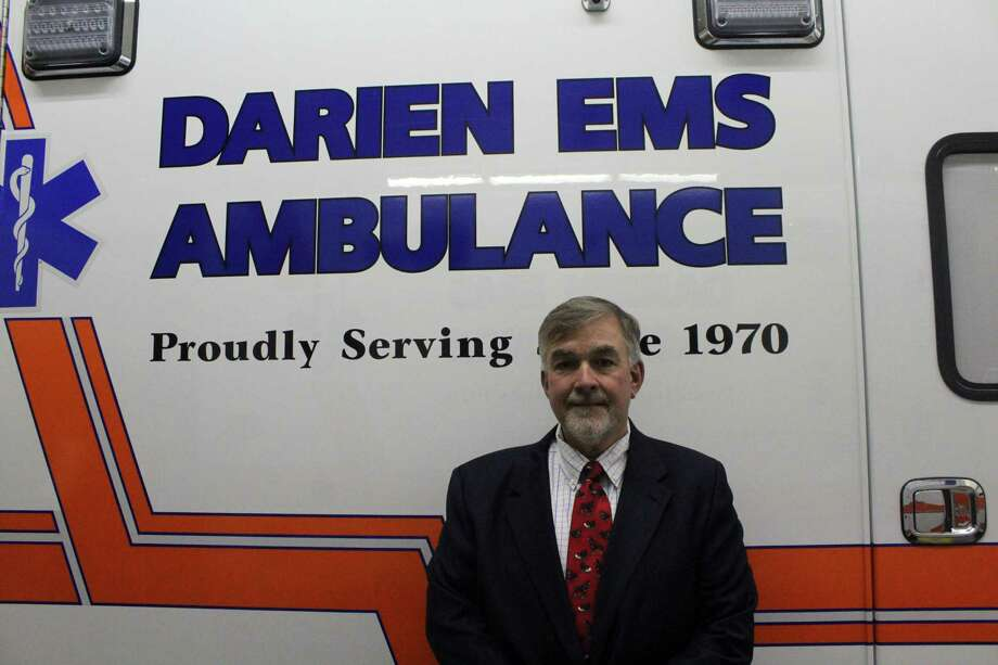 Joe Larcheveque, executive director of Darien EMS Post-53. Taken Nov. 12. Photo: Lynandro Simmons/Hearst Connecticut Media
