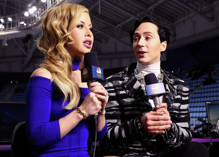 Figure skating announcers Tara Lipinski and Johnny Weir are among those participating in an April 17 fundraiser for Stamford-based Americares' COVID-19 relief effort. Photo: Jamie Squire / Getty Images / 2018 Getty Images