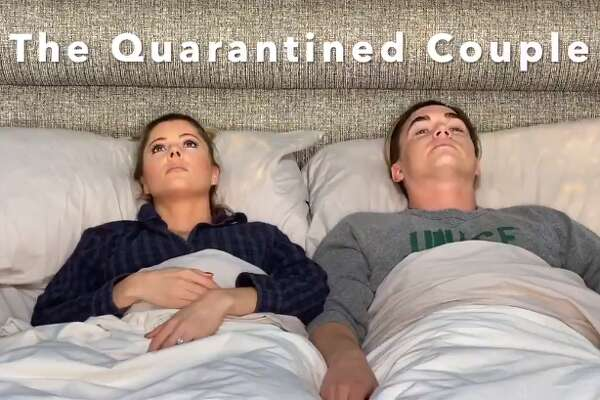 With the stay-at-home order extended through April, couples took to Twitter to share how they really feel about being quarantined with their spouse or significant other.