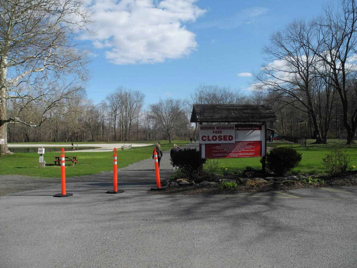 Merwin Meadows in Wilton will remain closed over Memorial Day weekend but may reopen on a limited basis, without swimming, in the next few weeks.