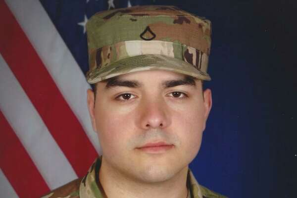 After a day working at Stamford Hospital on the Connecticut National Guard's mission to prepare hospital space, Pfc. Erik Cravo saw an accident on Route 15 and stopped to aid the driver.