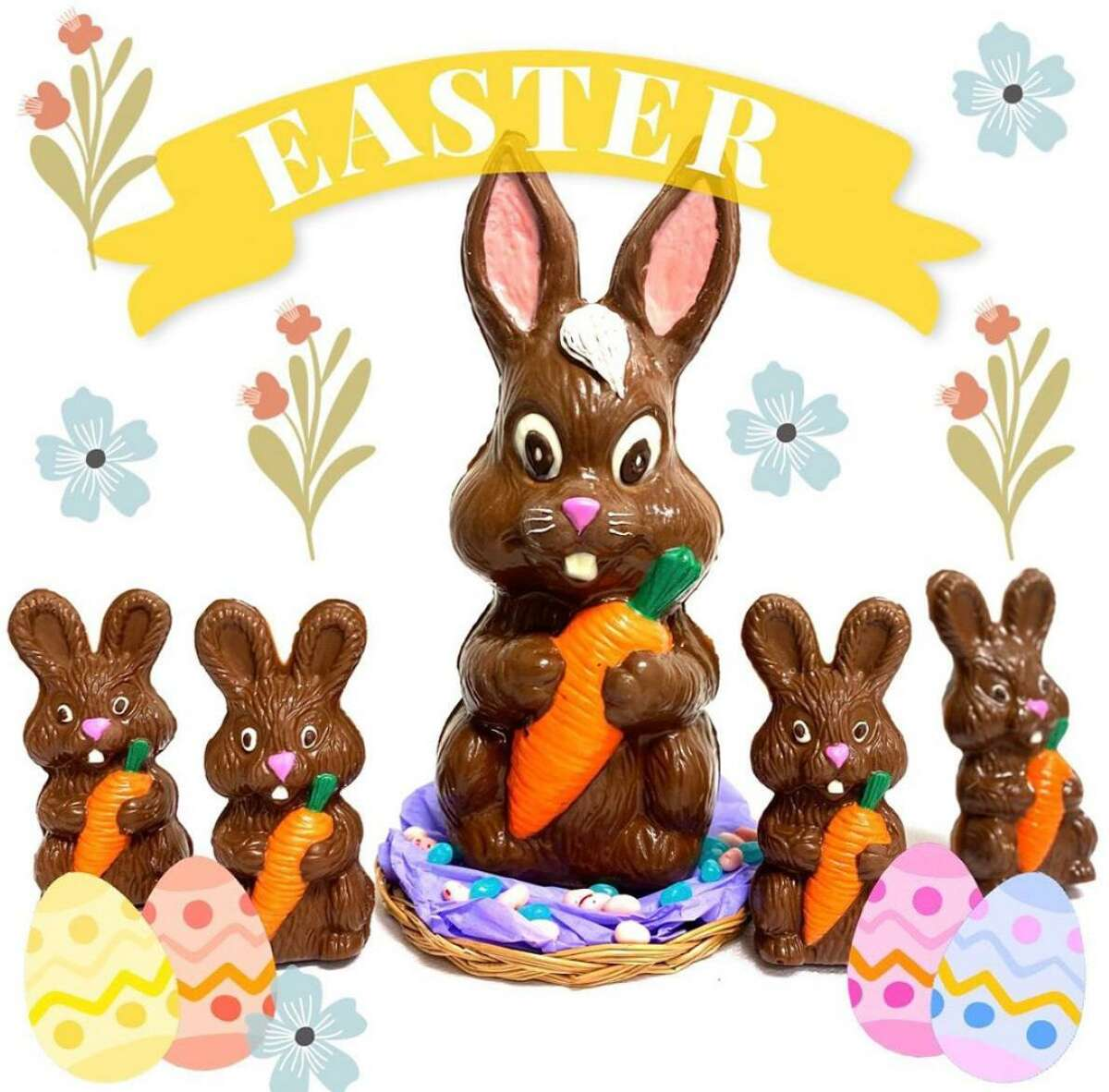 Darien's Chocolate Works is churning out Easter treats.