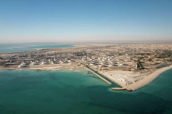 A tank farm for crude oil and refined products in Saudi Arabia. Texas Railroad Commissioner argues the world's oil powers should cooperate to address the unprecedented crisis faced by the energy industry.