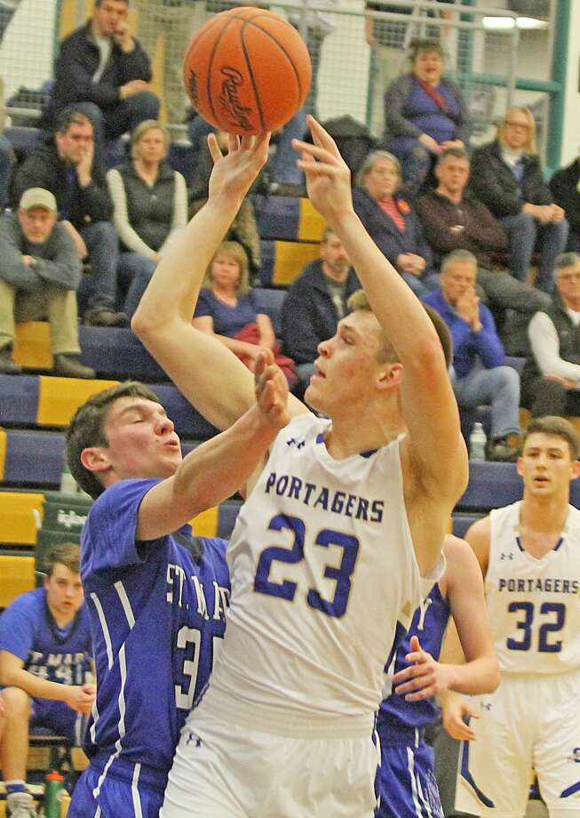 Onekama's Taylor Bennett was named all-state honorable mention for Division 4 boys basketball this season. Photo: News Advocate File Photo